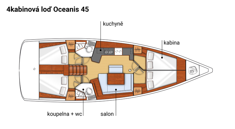 Sailing yacht accommodation