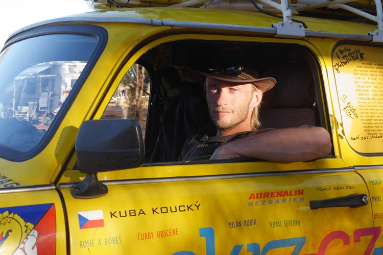 Jakub was in one of the crews of the popular Trabant expedition across the Pacific
